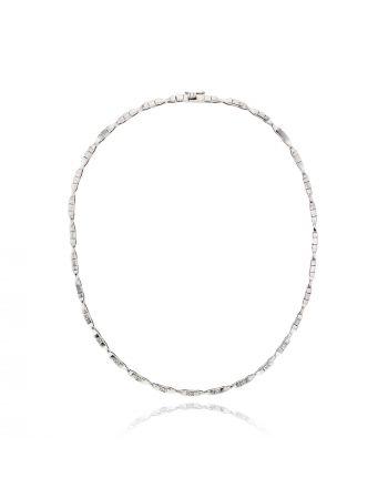 Κολιέ Κ18 με Διαμάντια 001430