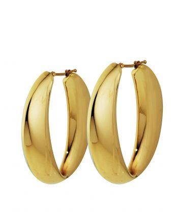 Σκουλαρίκια Κρίκοι από Κίτρινο Χρυσό 18 Καρατίων Κ18 009251