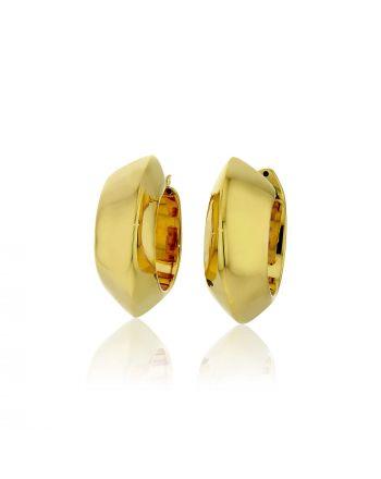 Σκουλαρίκια Κρίκοι από Κίτρινο Χρυσό 18 Καρατίων 009253