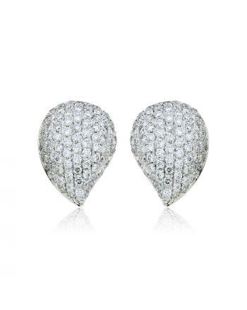 Σκουλαρίκια Λευκό Χρυσό 18 Καρατίων Κ18 με Διαμάντια Μπριγιάν 009932