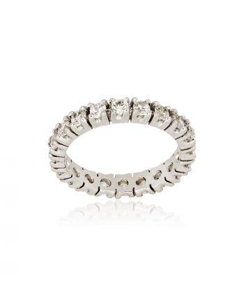 Δαχτυλίδι από Λευκό Χρυσό 14 Καράτια Κ14 με Πέτρες Ζιργκόν 015732