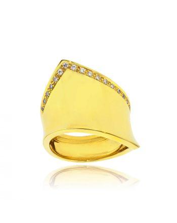 Δαχτυλίδι από Κίτρινο Χρυσό 18 Καρατίων με Διαμάντια Μπριγιάν 016795