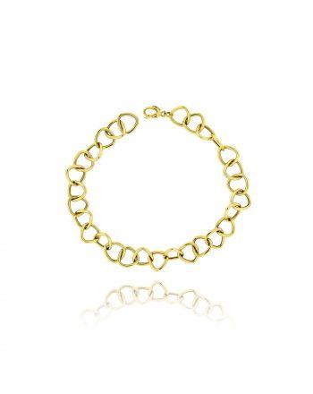 Αλυσιδωτό Βραχιόλι από Κίτρινο Χρυσό 18 Καρατίων 019249