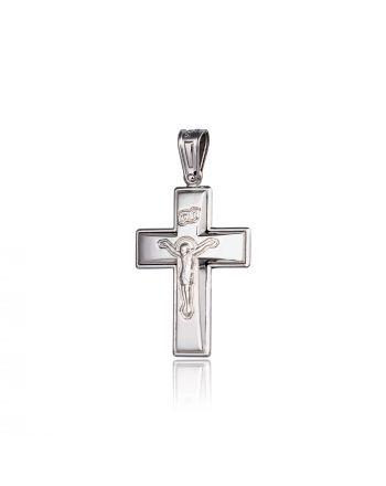 Σταυρός Βάπτισης για Αγόρι απο Λευκό Χρυσό Κ14 022252