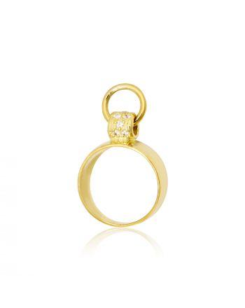 Δαχτυλίδι Σεβαλιέ απο Κίτρινο Χρυσό Κ09 με Ζιργκόν 022718