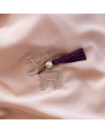 Γούρι Πρωτοχρονιάς Σπιτιού Τάρανδος Γυαλί με χάντρα Murano 024014