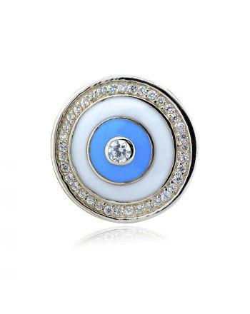 Μενταγιόν Μάτι Ασήμι 925 με Ζιργκόν 028181