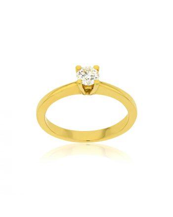 Μονόπετρο Δαχτυλίδι Val΄Oro Κίτρινο Χρυσό Κ18 με Διαμάντι Μπριγιάν 030269