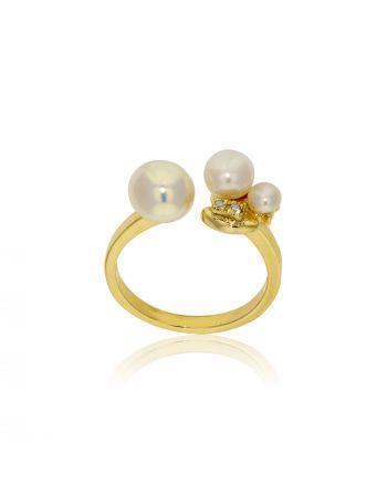 Δαχτυλίδι Gabriela Rigamonti Ανοιχτό Κίτρινο Χρυσό Κ14 με Πέτρες 030941