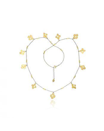 Κολιέ Gabriela Rigamonti Κίτρινο Χρυσό Κ14 με μαργαριτάρια 030948