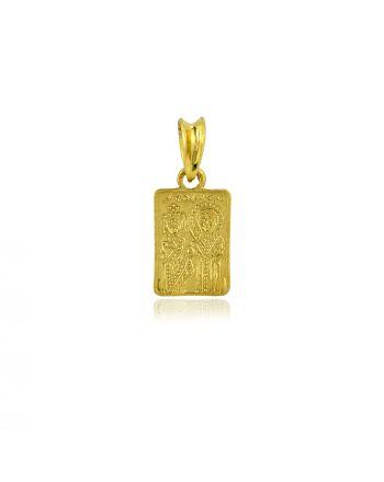 Παιδικό Μενταγιόν Κωνσταντινάτο Επιχρυσωμένο Ασήμι 925 031079
