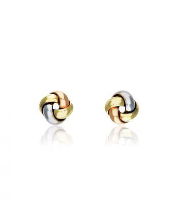 Σκουλαρίκια Κόμποι Κίτρινο Χρυσό 14 Καρατίων Κ14 031116