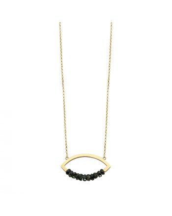Μενταγιόν Μάτι με Αλυσίδα KK Jewelry Lab Κίτρινο Χρυσό Κ18 με  Μπλε Ζαφείρια 806
