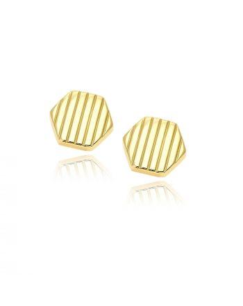 Μανικετόκουμπα από Κίτρινο Χρυσό Κ14 033009