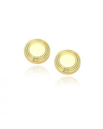 Μανικετόκουμπα από Κίτρινο Χρυσό Κ14 033011
