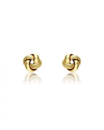 Σκουλαρίκια Κόμποι από Κίτρινο Χρυσό 14 Καρατίων 033797