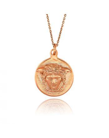 Μενταγιόν Νόμισμα με Αλυσίδα από Ασήμι 925 034143