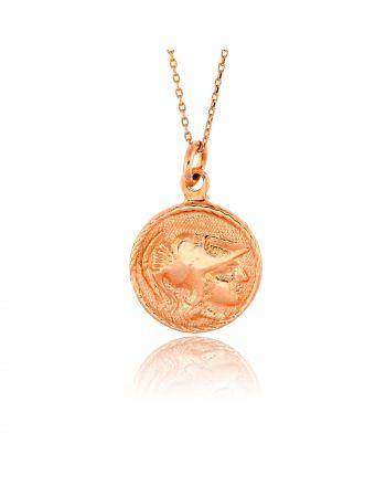 Μενταγιόν με Νόμισμα από Ασήμι 925 034144