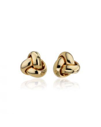 Σκουλαρίκια Κόμποι από Κίτρινο Χρυσό 14 Καρατίων 034489