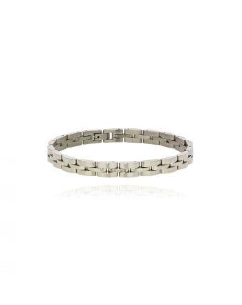 Βραχιόλι Ατσάλινο με Διαμάντια 034982