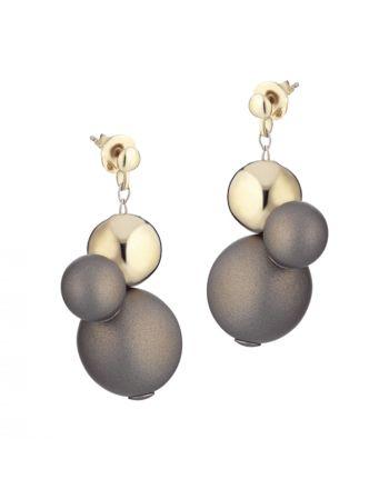 Σκουλαρίκια από Ασήμι 925 με Επικαλυμμένο Ορείχαλκο 036335