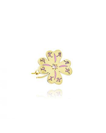 Παραμάνα απο Κίτρινο Χρυσό Κ9 με Πέτρες Ζιργκόν 036870