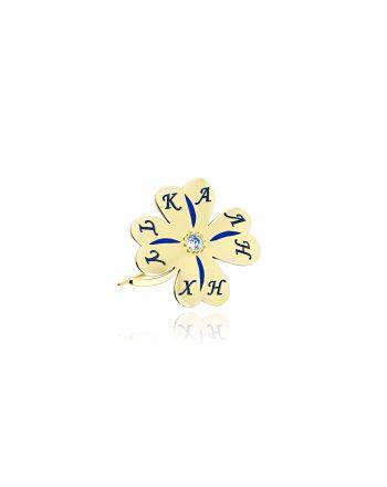 Παραμάνα απο Κίτρινο Χρυσό Κ9 με Πέτρες Ζιργκόν 036871