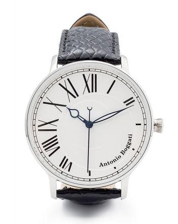 Ανδρικό Ρολόι Antonio Boggati Couple La Paris με Μαύρο Δερμάτινο Λουράκι 037417