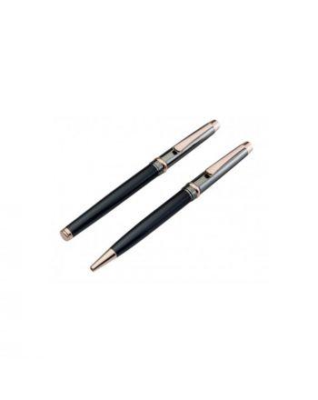 Σετ Ρόλλερ & Στυλό Jos Von Arx  Prestige σε χρώμα Μαύρο & Ροζ Χρυσό 037736
