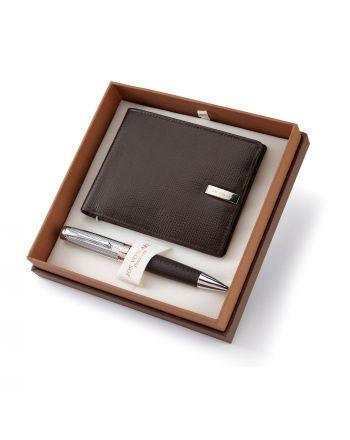 Σετ Στυλό και Δερμάτινο Πορτοφόλι Jos Von Arx Prestige 037739