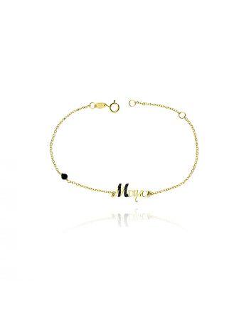 Βραχιόλι απο Κίτρινο Χρυσό Κ09 με Πέτρες Ζιργκόν 037856