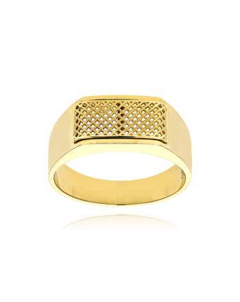 Δαχτυλίδι Ανδρικό Val΄Oro από Κίτρινο Χρυσό Κ14 038154