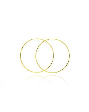 Σκουλαρίκια Κρίκοι από Κίτρινο Χρυσό 14 Καρατίων 038221