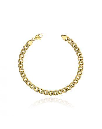Βραχιόλι  Χρυσό Κ14  με Πέτρες Ζιργκόν 038300
