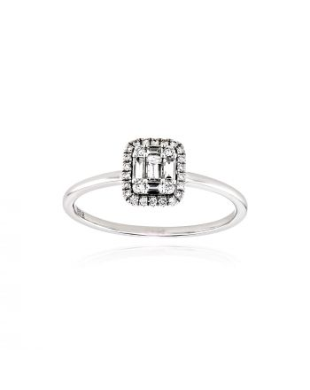 Δαχτυλίδι από Λευκό  Χρυσό Κ18 με Διαμάντια 038612