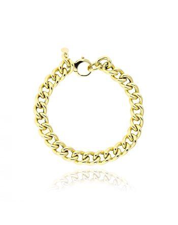 Αλυσιδωτό Βραχιόλι από Κίτρινο Χρυσό Κ14 038766