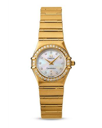 Χρυσό Ρολόι Omega Constellation με Διαμάντια 11677500
