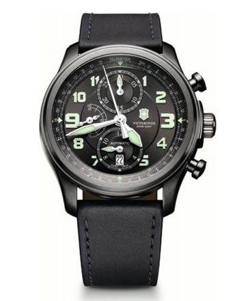 Ανδρικό Ρολόι Victorinox Infantry με Ανθρακί Δερμάτινο Λουράκι 241526