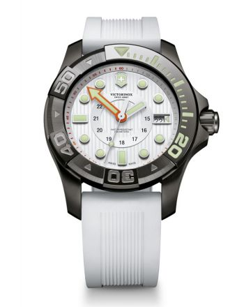Ανδρικό Ρολόι Victorinox Divemaster με Λευκό Λουράκι απο Καουτσούκ 241559