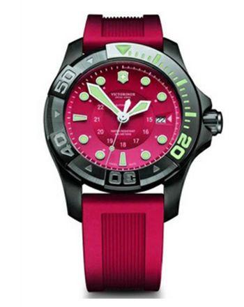 Γυναικείο Ρολόι Victorinox Dive Master με Κόκκινο Λουράκι απο Καουτσούκ 241577