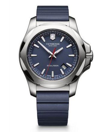 Ανδρικό Ρολόι Victorinox INOX με Μπλε Λουράκι απο Καουτσούκ 241688.1