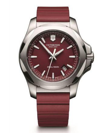 Ανδρικό Ρολόι Victorinox INOX με Κόκκινο Λουράκι απο Καουτσούκ 241719.1
