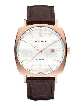 Ρολόι Rodania Montreal Quartz με Καφέ Δερμάτινο Λουράκι 2512433
