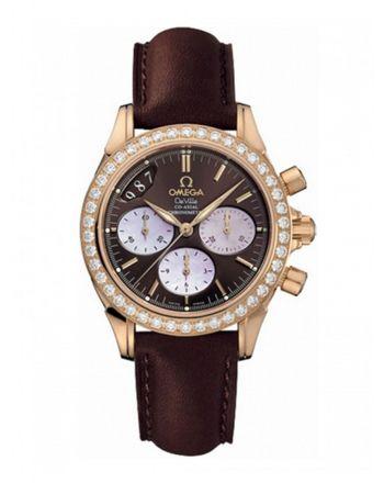 Ρολόι Omega De Ville Co-Axial με Διαμάντια & Χρονογράφο 46776037