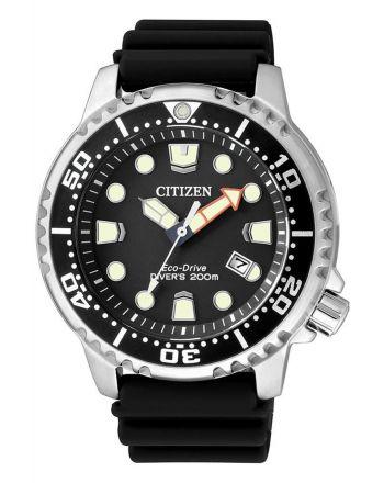 CITIZEN Promaster Marine Eco Drive Black Rubber Strap BN0150-10E