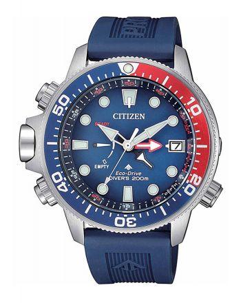 Citizen Promaster Marine Aqualand Eco Drive με Μπλε Λουράκι απο Καουτσούκ BN2038-01L