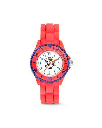 Παιδικό Ρολόι Colori για Αγόρι Quartz με Κόκκινο Λουράκι Σιλικόνης CLK058