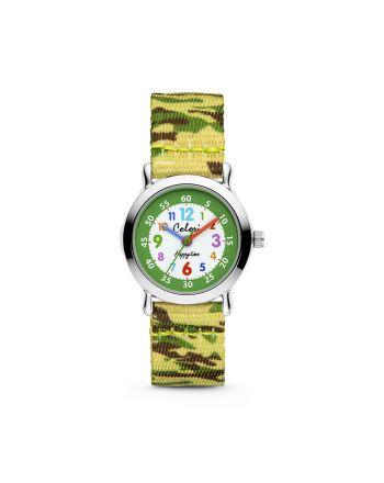 Παιδικό Ρολόι Colori Quartz με Υφασμάτινο Λουράκι Παραλλαγής CLK105