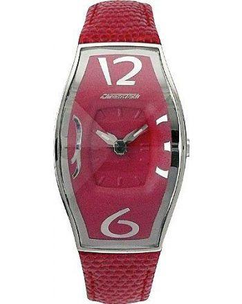 Ρολόι Chronotech με Κόκκινο Δερμάτινο Λουράκι CT.7932L/14