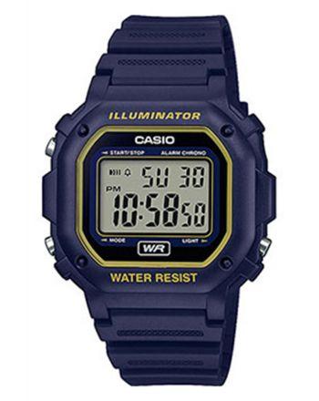 Ψηφιακό ρολόι Casio Standard Quartz με Μπλε Λουράκι Καοτσούκ F-108WH-2A2EF